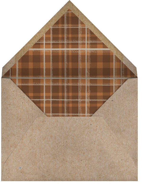 Buck and Wine - Chipboard - Paperless Post - Winter entertaining - envelope back