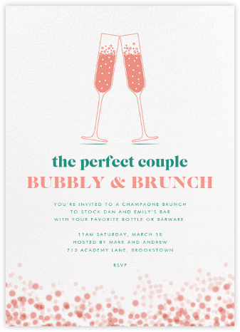 Double Bubble - Crate & Barrel - Brunch invitations