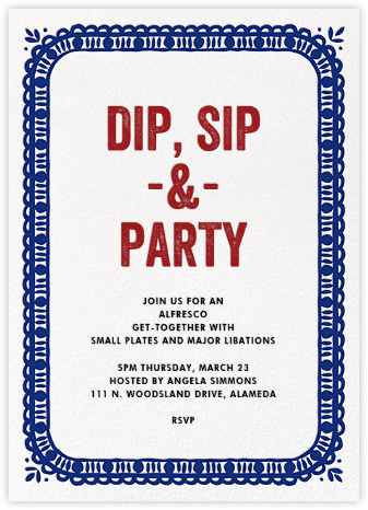 Party Platter - Crate & Barrel - Engagement party invitations