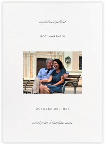 Transom (Tall Announcement) - White - Paperless Post - Wedding Announcements