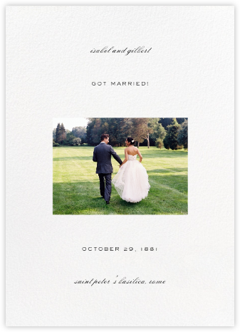 Transom (Tall Announcement) - White - Paperless Post - Wedding
