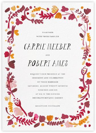 Miss Lila (Invitation) - Cranberry - Mr. Boddington's Studio - Wedding invitations