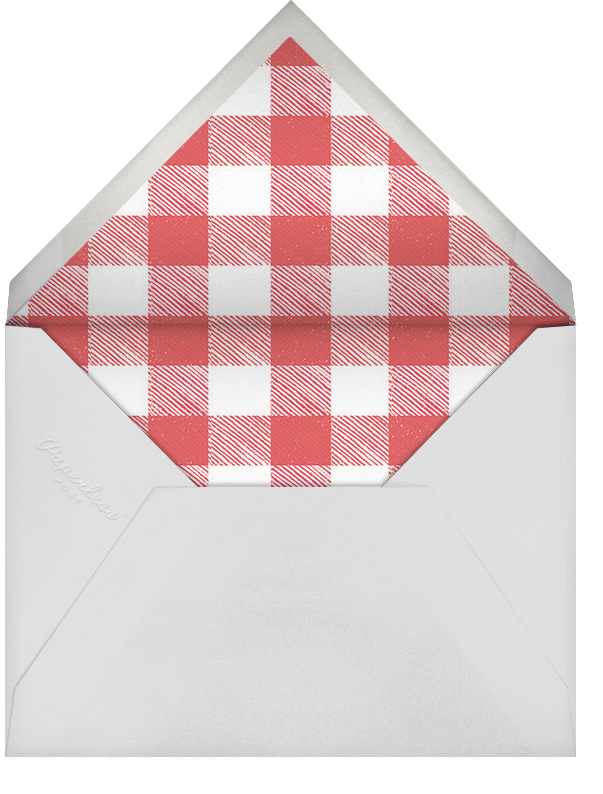 Ribs and Bibs - Pink - Paperless Post - Baby shower - envelope back