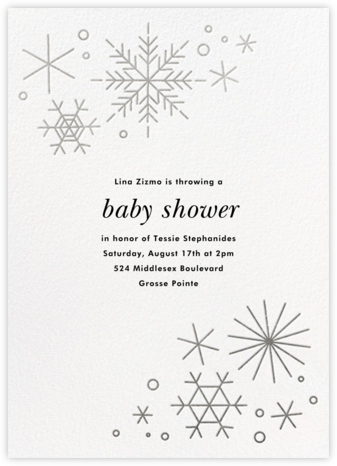 No Two Alike - Silver - Paperless Post - Baby Shower Invitations