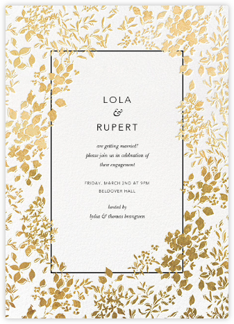 Richmond Park - White/Gold - Oscar de la Renta - Engagement party invitations
