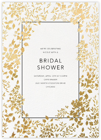 Richmond Park - White/Gold - Oscar de la Renta - Bridal shower invitations