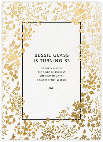 Richmond Park - White/Gold - Oscar de la Renta - Bat and Bar Mitzvah Invitations