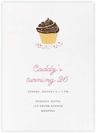 Sprinkles and Icing - Paperless Post - Adult Birthday Invitations