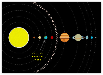 Solar System - Paperless Post - Adult Birthday Invitations