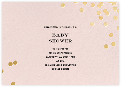 Confetti - Blush/Gold - kate spade new york - Baby Shower Invitations