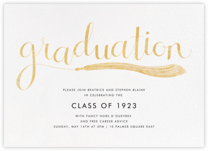 Tassels in the Sky - Paperless Post - Graduation Party Invitations