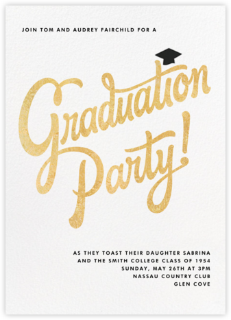 Capped Off - Paperless Post - Celebration invitations
