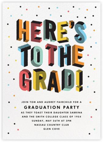 Degree in 3-D - Multi - Paperless Post - Celebration invitations
