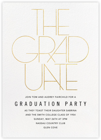 Deco Degree - Paperless Post - Celebration invitations