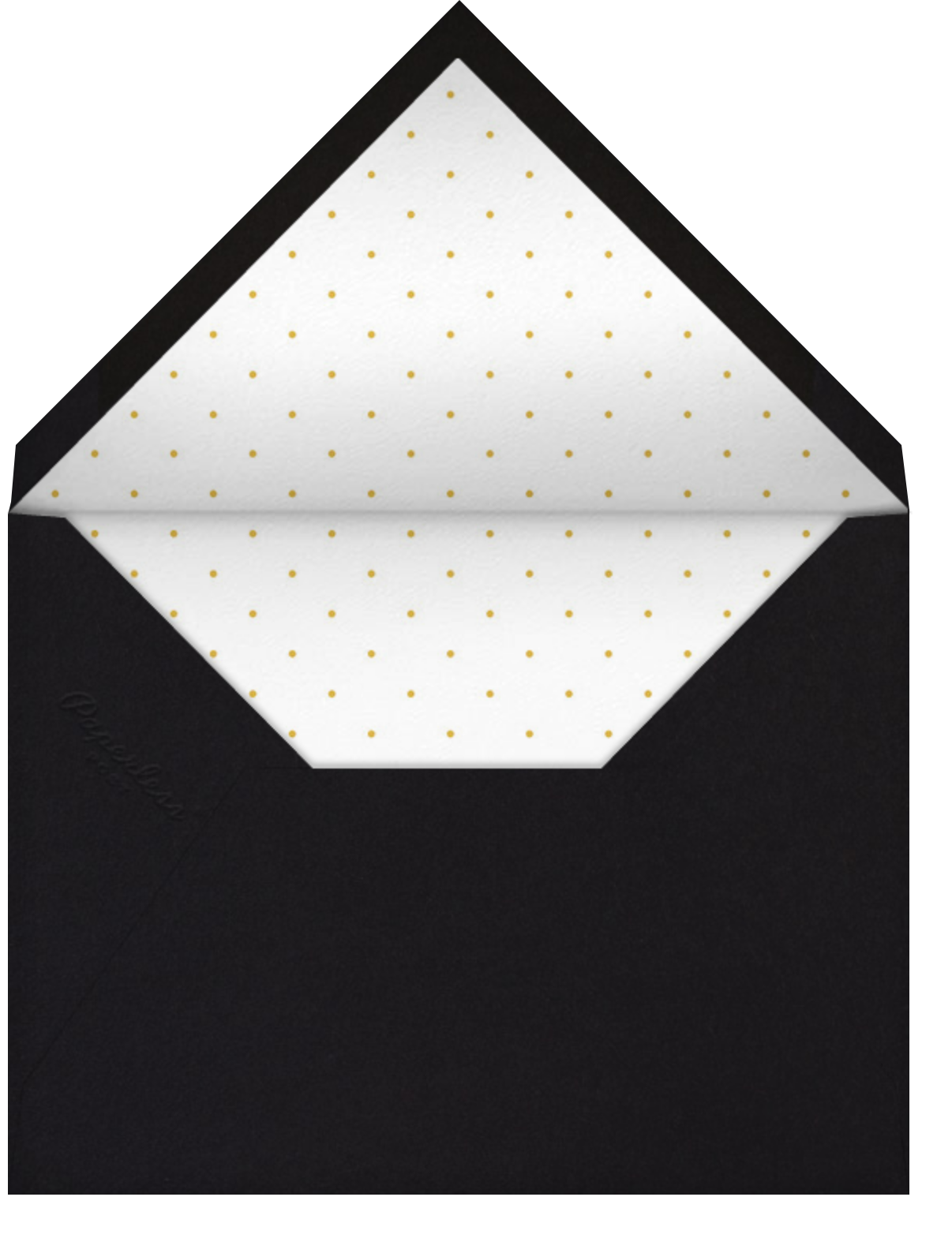 Deco Degree - Paperless Post - Graduation party - envelope back