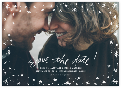 Among the Stars (Horizontal) - Linda and Harriett - Save the date cards and templates