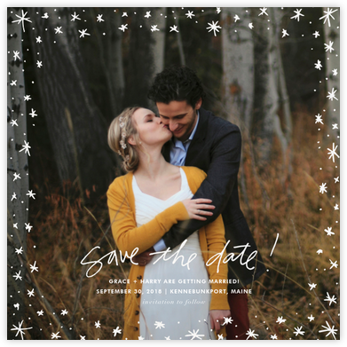 Among the Stars (Square) - Linda and Harriett - Save the dates