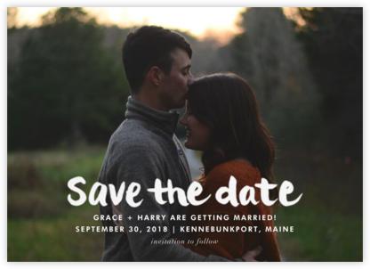 Stroke of Genius - White - Linda and Harriett - Photo save the dates