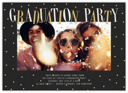 Glittering Grad (Photo) - Millet - Paperless Post - Celebration invitations