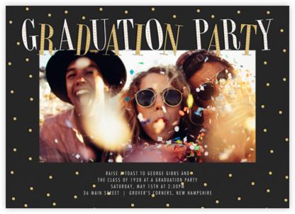 Glittering Grad (Photo) - Millet - Paperless Post - Celebration invitations