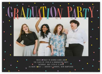 Glittering Grad (Photo) - Multi - Paperless Post - Virtual Graduation Party Invitations