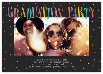Glittering Grad (Photo) - Multi - Paperless Post - Graduation Party Invitations