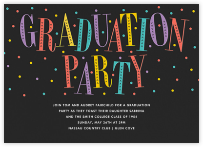 Glittering Grad - Multi - Paperless Post - Celebration invitations