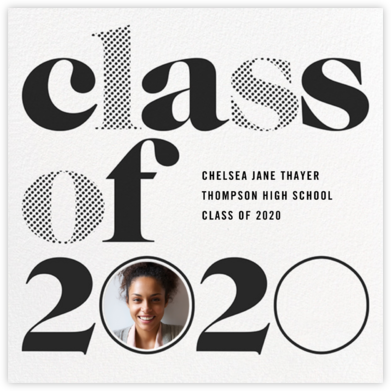 Head of the Class - Black - Paperless Post - Graduation Announcements