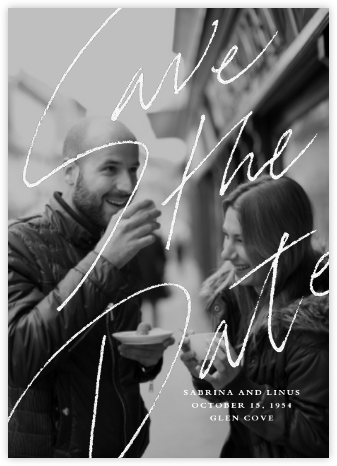 Markham Photo - White - Paperless Post - Wedding Save the Dates