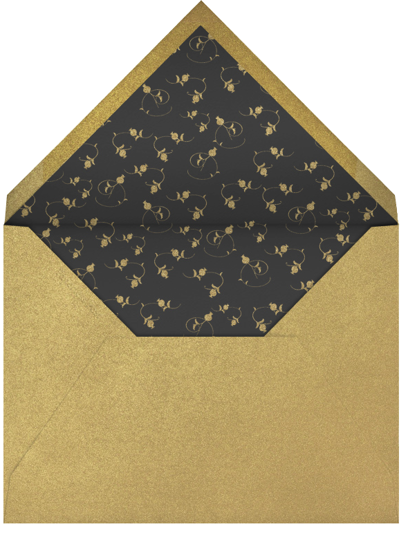 Happy Anniversary Script - Cream and Gold - Bernard Maisner - Anniversary - envelope back