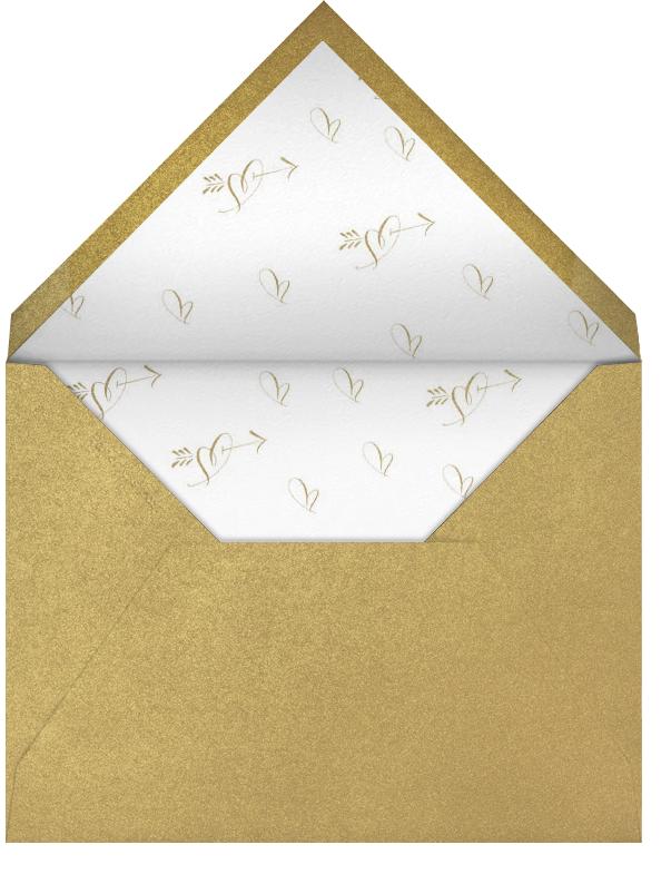 Happy Anniversary Script - Black and Gold - Bernard Maisner - Anniversary cards - envelope back