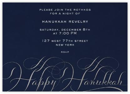 Hanukkah - Navy and Silver - Bernard Maisner -