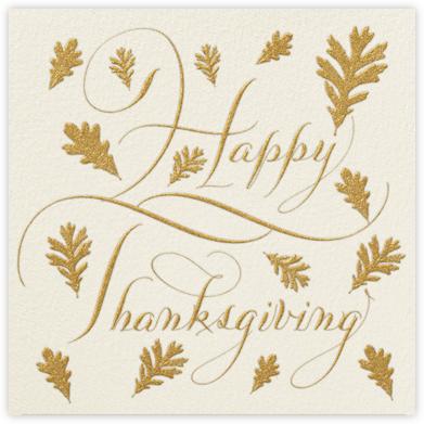 Happy Thanksgiving Script - Cream - Bernard Maisner -