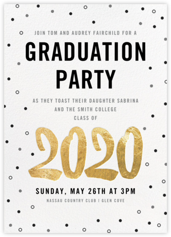 Person of the Year (Invitation) - Gold - Paperless Post - Graduation Party Invitations