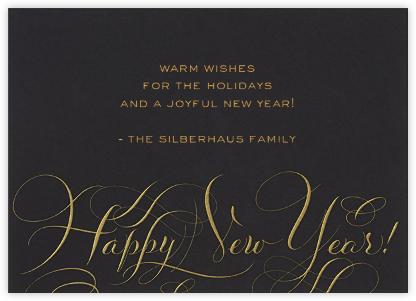 Happy New Year Script - Black/Gold - Bernard Maisner -