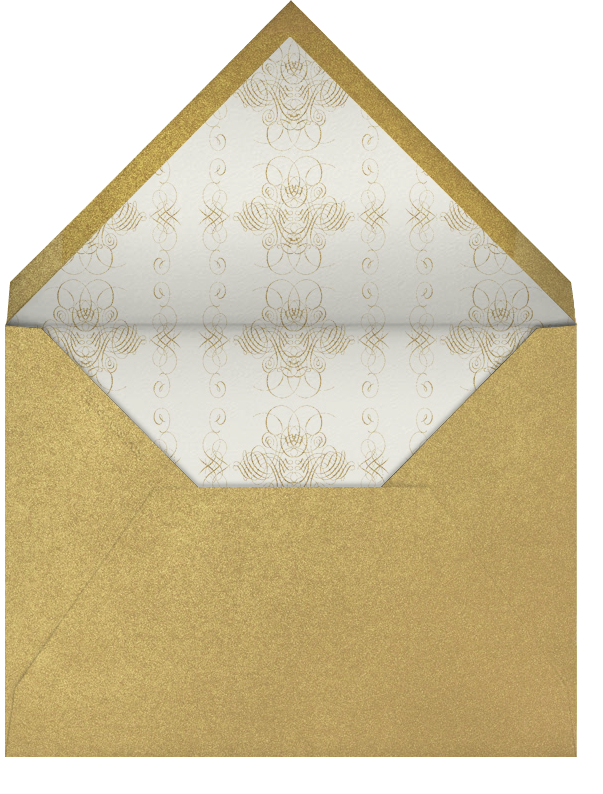 Happy New Year Script - Cream/Gold - Bernard Maisner - New Year - envelope back