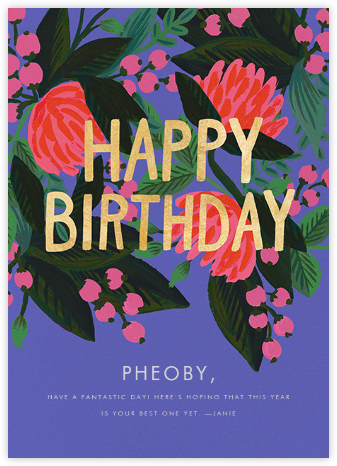 Floral Canopy - Rifle Paper Co. - Online Greeting Cards