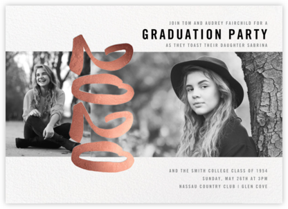 Person of the Year (Multi-Photo Invitation) - Rose Gold - Paperless Post - Graduation Party Invitations