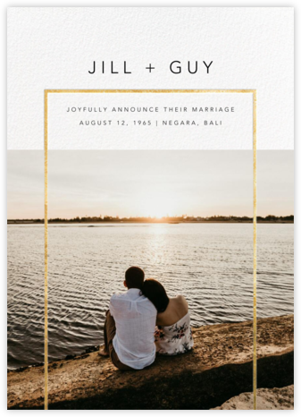 Truitt - Gold - Paperless Post - Wedding Announcements