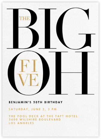 The Number Oh (Fifty) - Paperless Post - Birthday invitations