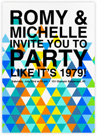 Kaleidoscope - Blue - Paperless Post - Online Party Invitations