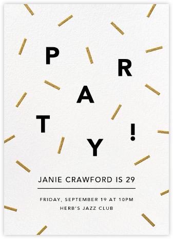 Confection - Gold - Paperless Post - Adult Birthday Invitations