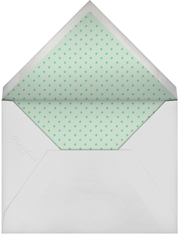 Bowling Pins - Mint - Paperless Post - Adult birthday - envelope back