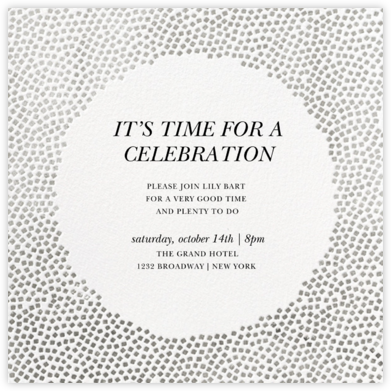 Konfetti - Silver - Kelly Wearstler - Adult Birthday Invitations