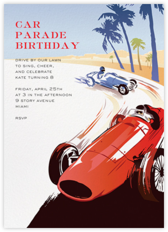 Monaco - Paperless Post - Online Kids' Birthday Invitations