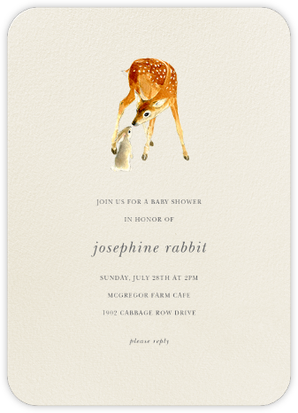 Very Deer - Felix Doolittle - Woodland Baby Shower Invitations