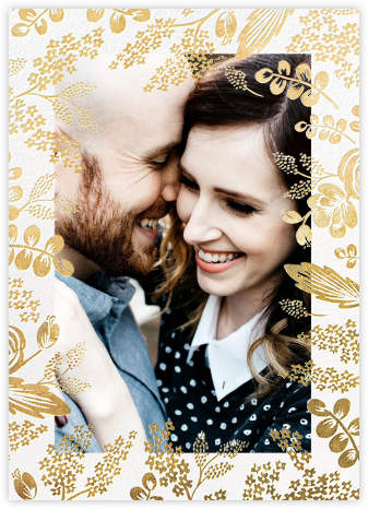 Heather and Lace (Photo Invitation) - Gold - Rifle Paper Co. - Rifle Paper Co. Wedding