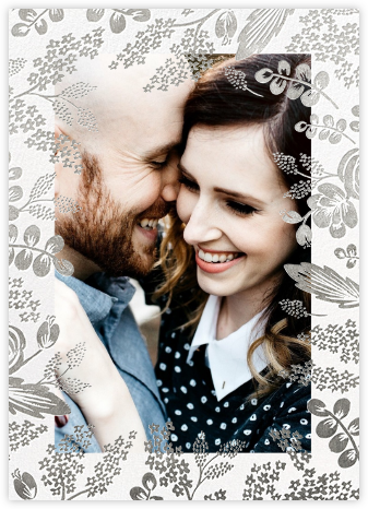 Heather and Lace (Photo Invitation) - Silver - Rifle Paper Co. -
