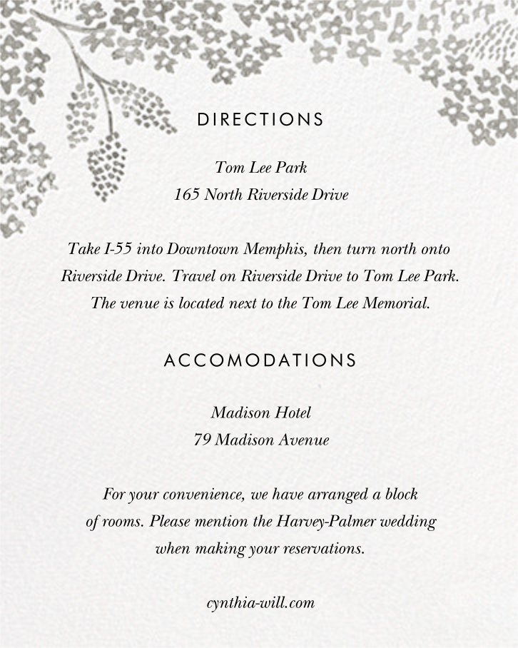 Heather and Lace (Photo Invitation) - Silver - Rifle Paper Co. - All - insert front