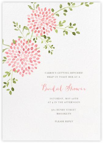 Dahlias (Tall) - Pink - Paperless Post - Bridal shower invitations